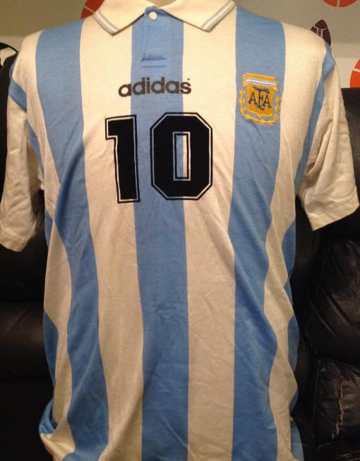 35941e0bc Original Soccer Jersey Argentina Maradona No. 10 World Cup Usa 1994