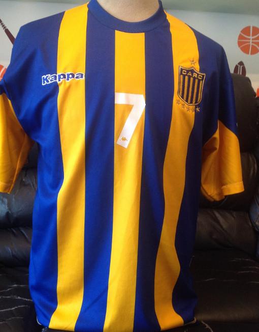 Kappa Soccer Jersey Rosario Central Number 7 Di Maria 137dc950b