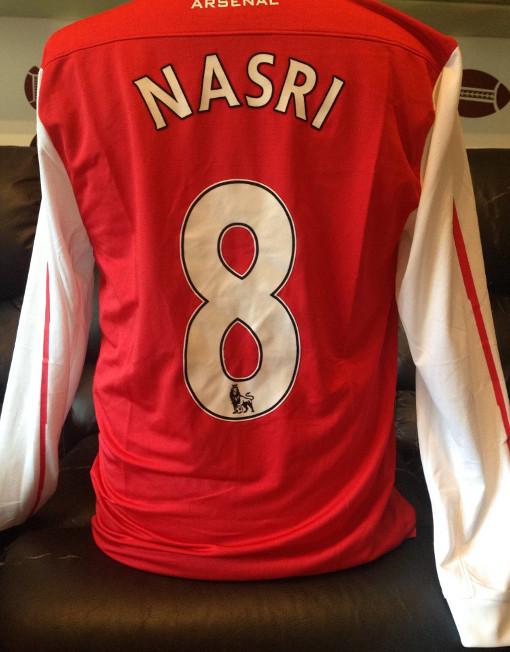 watch 10710 c79da Nike Soccer Jersey Arsenal Long Sleeve Number 8 Nasri