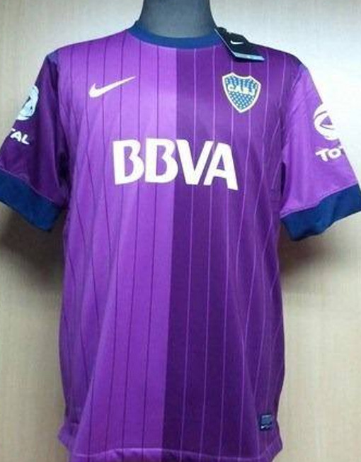 best website f3574 fb596 Nike Soccer Jersey Boca Juniors - Purple