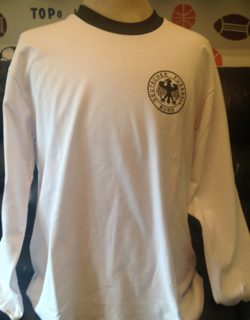 wholesale dealer 4f9e7 f4854 Retro Soccer Jersey Germany Number 5 Beckenbauer World Cup 1974
