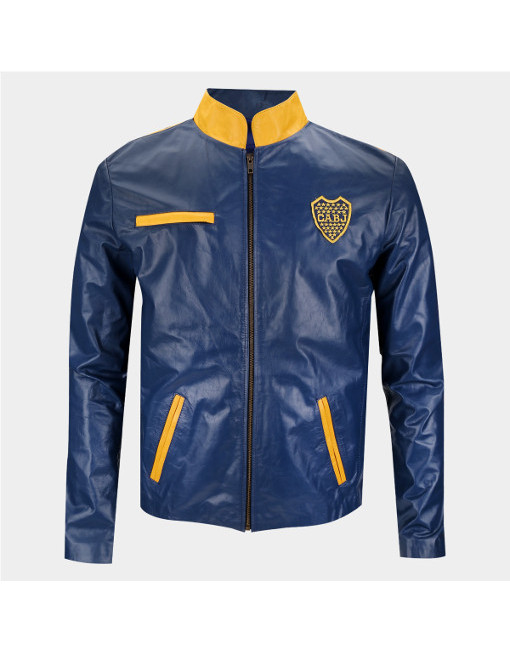 Leather Jacket Boca Juniors Mao