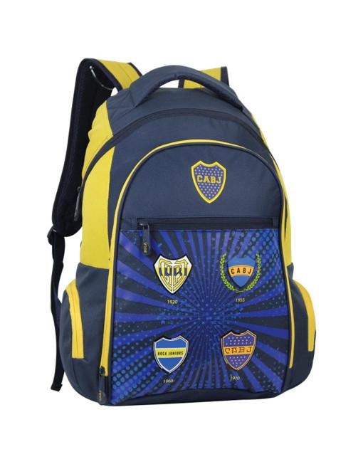 """Boca Juniors Backpack Bosteros 18"""" 3"""