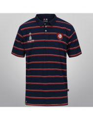 Polo Shirt San Lorenzo Striped - Red