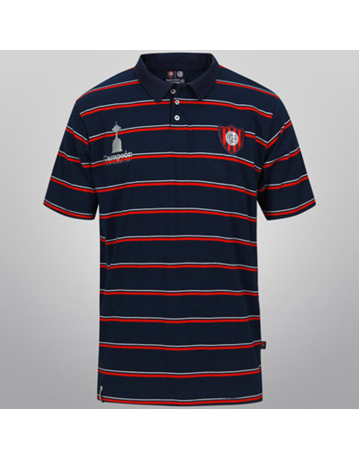 Polo Shirt San Lorenzo Striped - Red